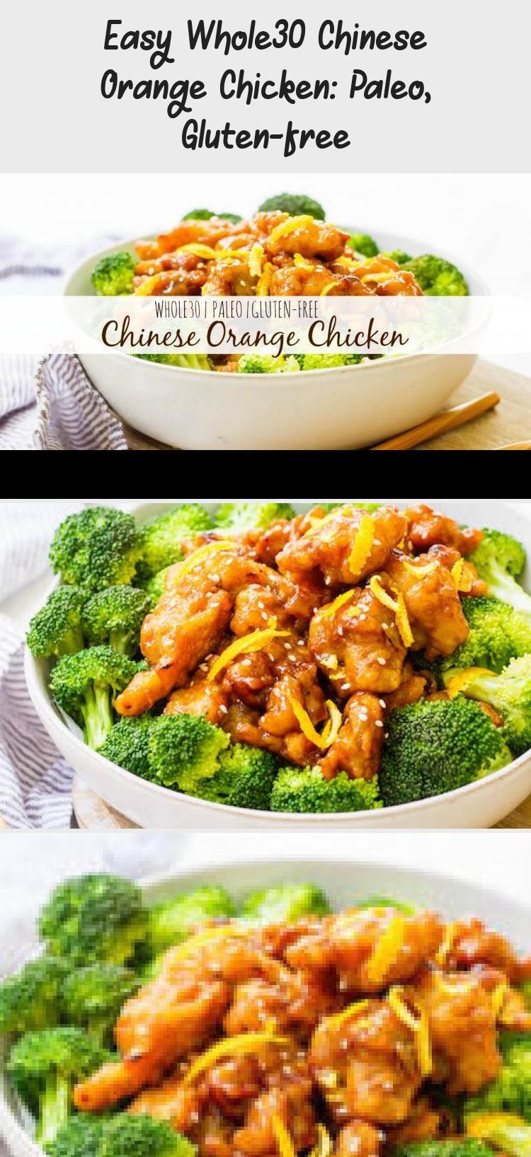 Easy Whole30 Chinese Orange Chicken: Paleo, Gluten-free #chineseorangechicken