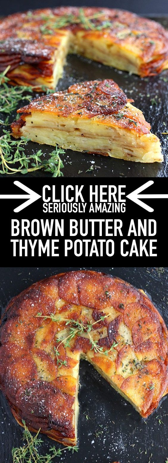 ★★★★★ 29 reviews:  Brown Butter and Thyme Potato Cake | This Brown Butter and Thyme Potato