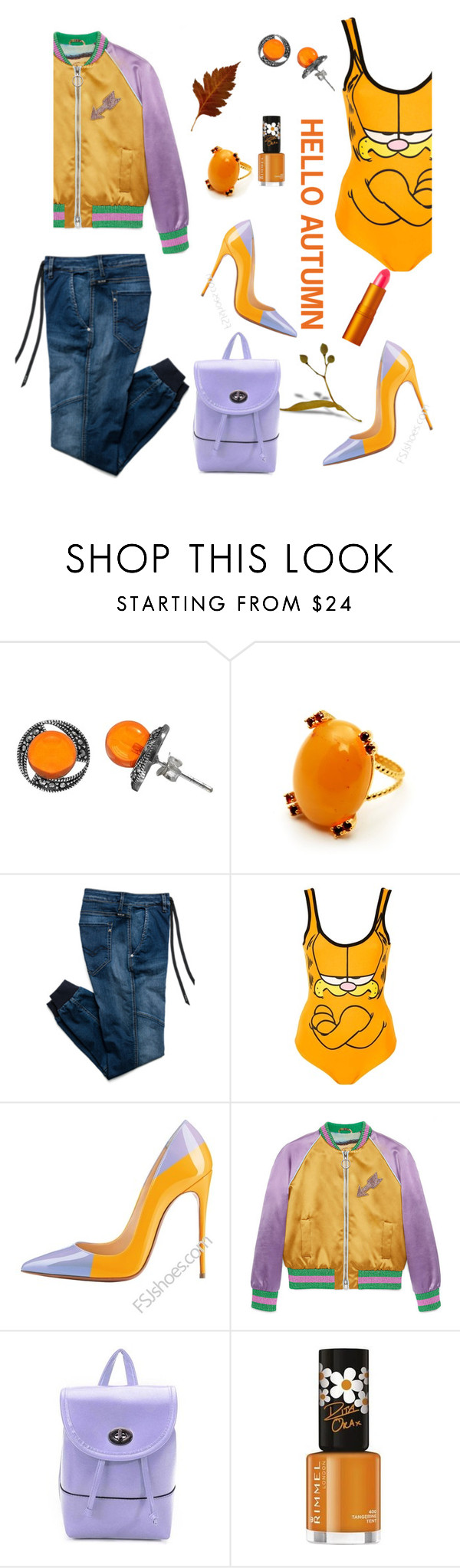 """""""Untitled #825"""" by lisacom ❤ liked on Polyvore featuring Goldmajor, Replay, Topshop, Gucci, Rimmel and Lipstick Queen"""