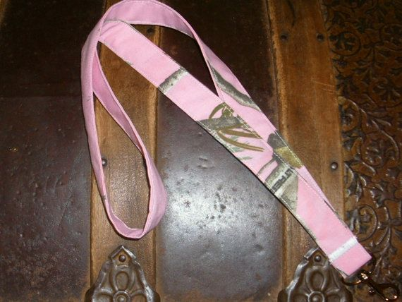 Neck LanyardPink or Purple Camo by BILLEEVERSBOUTIQUE on Etsy, $8.00