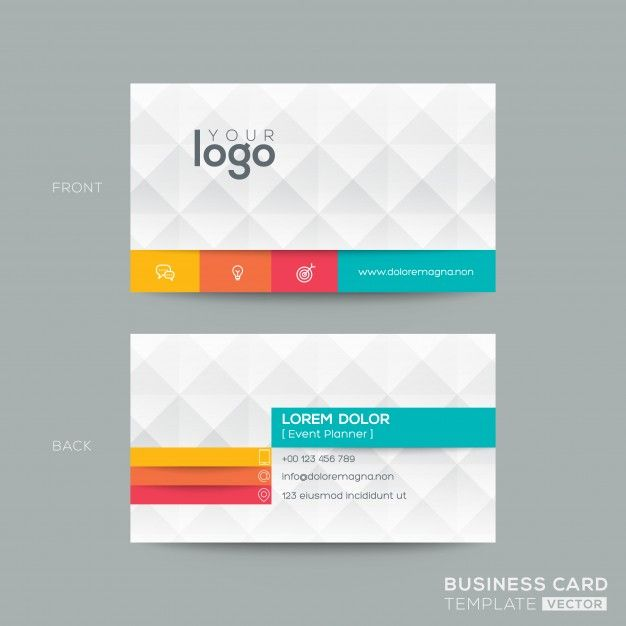 Polygonal business card with 3d effect Free Vector Cards - free sample business cards templates