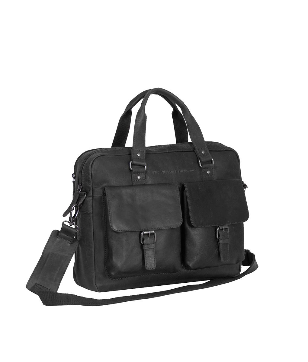 b7cad27a875 Casual Laptop Bag Large Black 'George' | Leather Chesterfield Bags Online  Shop | Chesterfield Bags