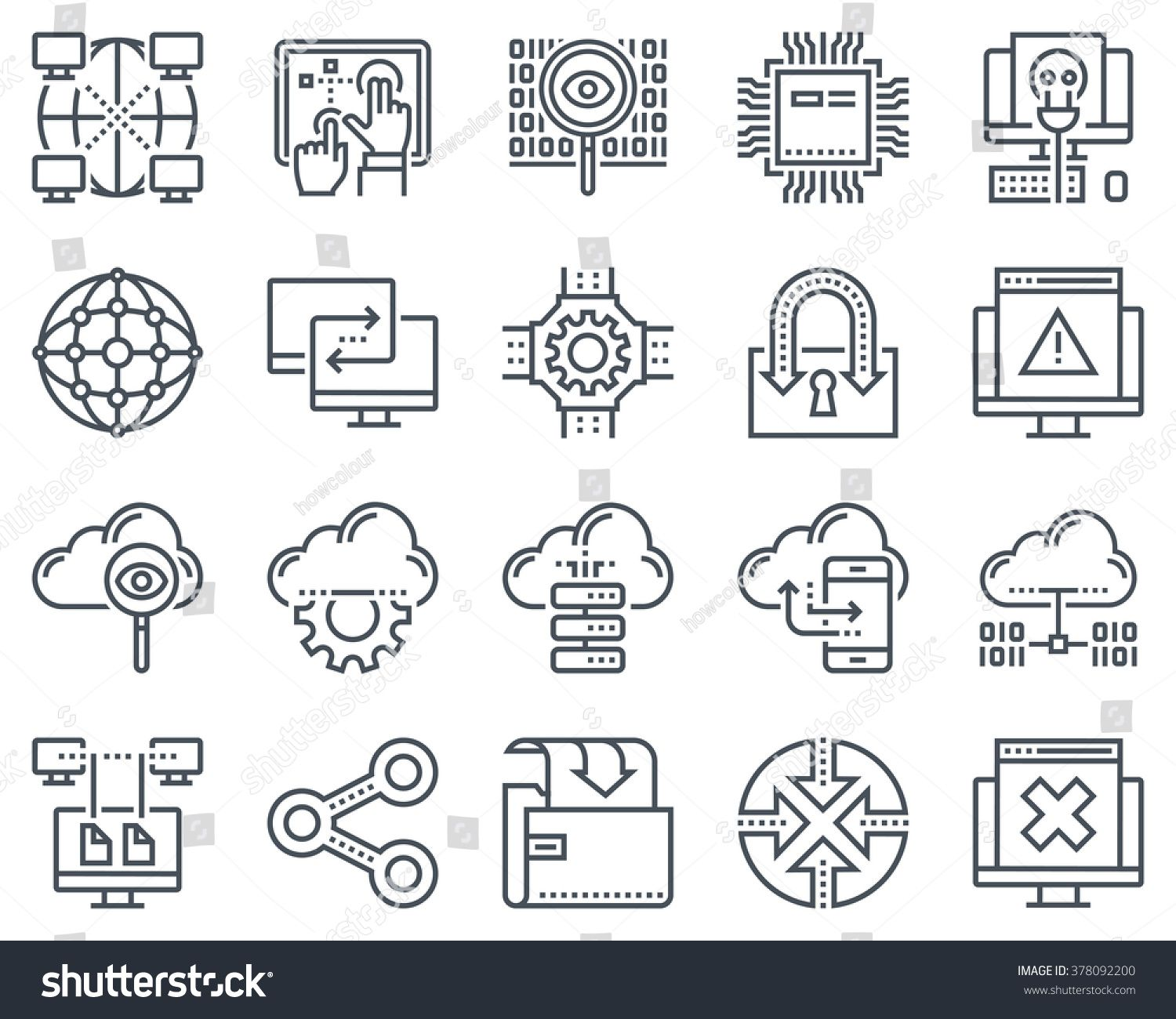 Internet And Technology Icon Set Suitable For Info Graphics Websites And Print Media And Interfaces Line Vector Icons Technology Icon Icon Set Internet Icon