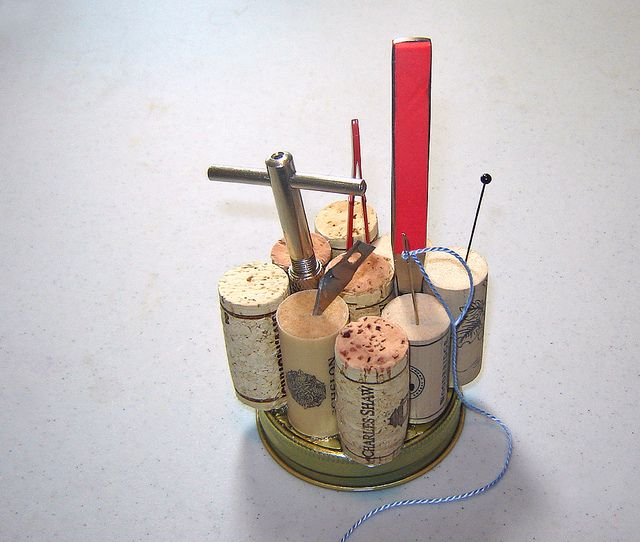 Inventive:  Pin Cushion / Tool Holder  ~ 1 of 2 photos by Urban Woodswalker, via Flickr