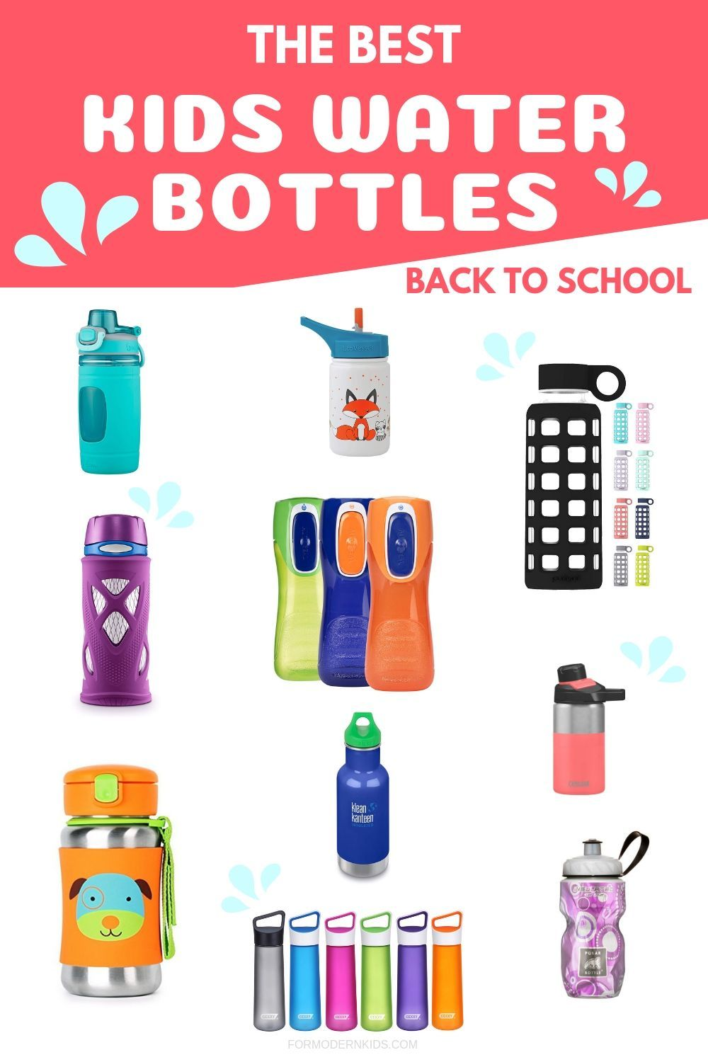 The Best Water Bottles for Kids (Plastic, Stainless Steel & Glass images