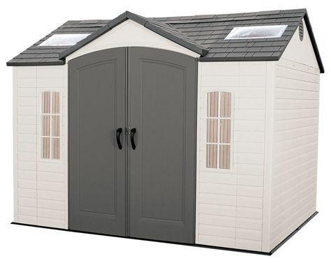 Caseta resina de 7 44 m2 lifetime 60020 tienda online leroy merlin casetas - Cobertizos de resina ...