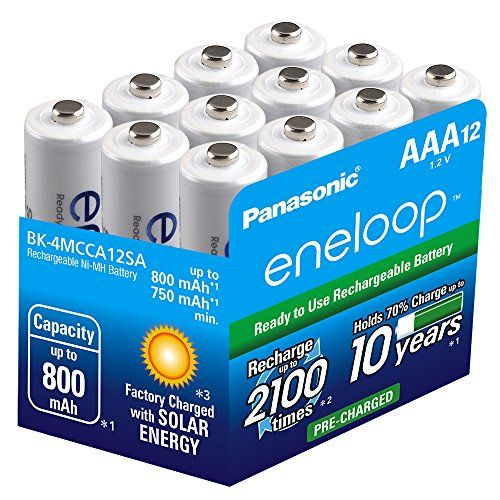Panasonic Bk 4mcca12sa Eneloop Aaa 2100 Cycle Ni Mh Pre Charged Rechargeable Batteries 12 Pack Panasonic H Rechargeable Batteries Panasonic Recharge