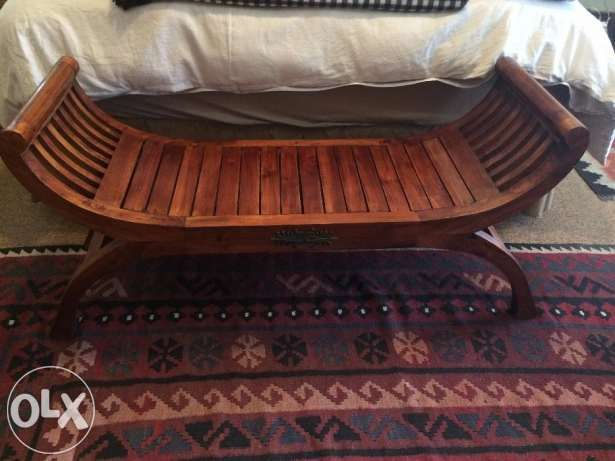 Indonesian Wooden Sleigh Bench Seat – excellent condition Pretoria - image 1 Enlarge photo