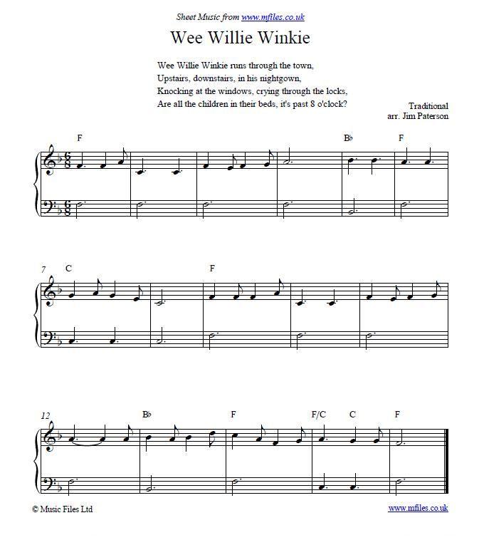 Wee Willie Winkie Nursery Rhyme And Bedtime Song