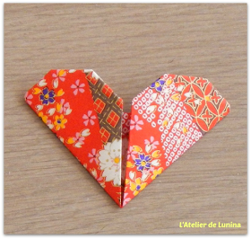 marque page origami cœur heart brand page