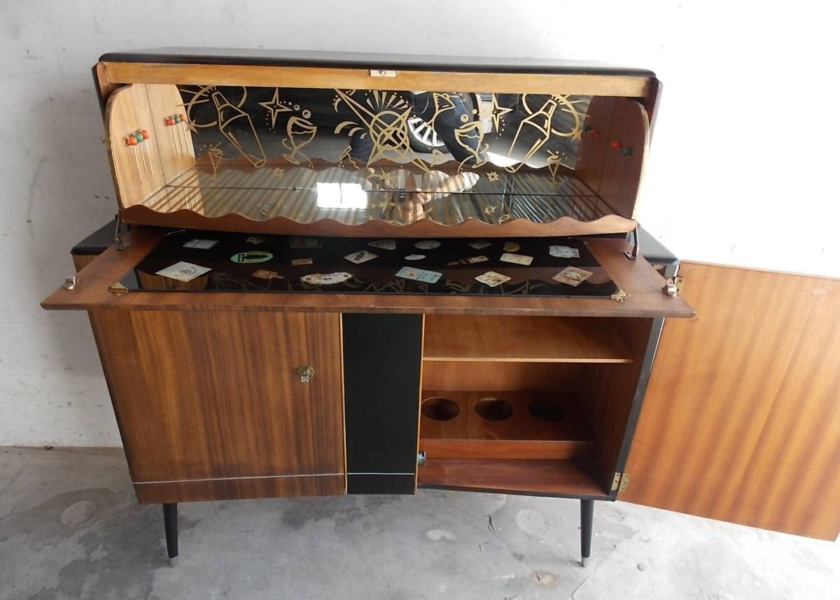 Danish Mid Century Bar Cabinet