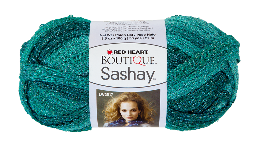 Malachite Boutique Sashay Metallic Yarn | Red Heart | Scarves ...