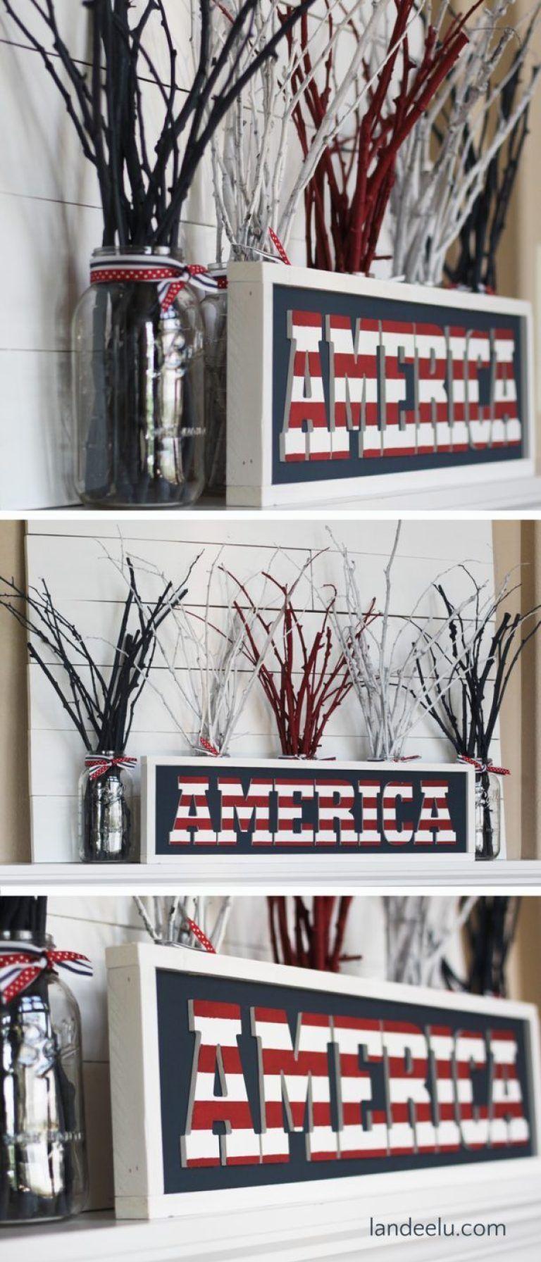 DIY 4th of July Fireworks Mantel images