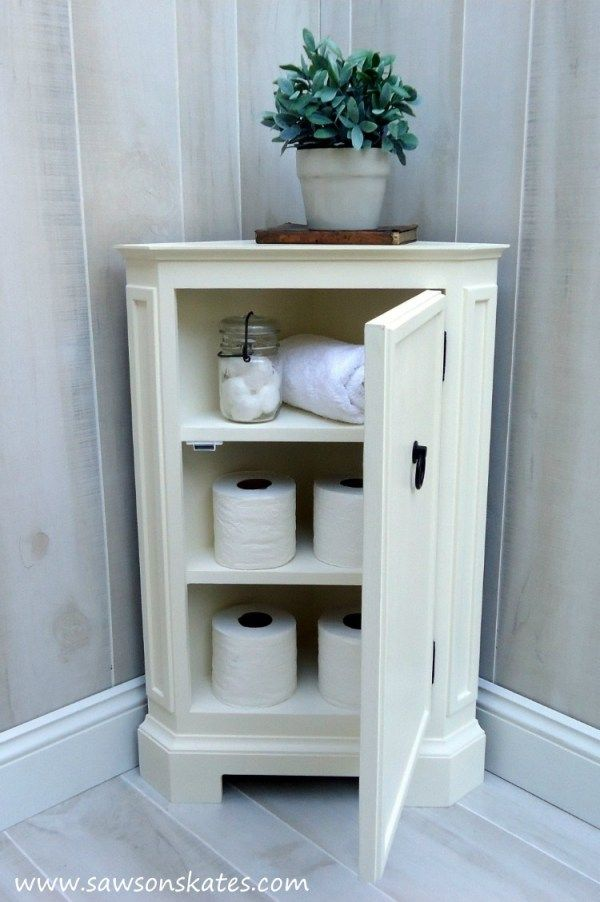 How To Make A Diy Corner Cabinet Inspired By Ballard Designs Perfect For Storage In Small Spaces Small Corner Cabinet Corner Furniture Corner Cabinet