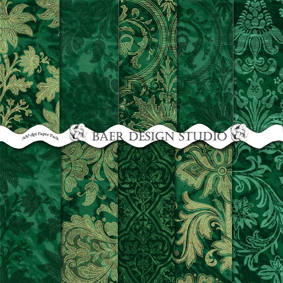 Green Christmas Paper Wedding Emerald Weddings Digital Scrapbook