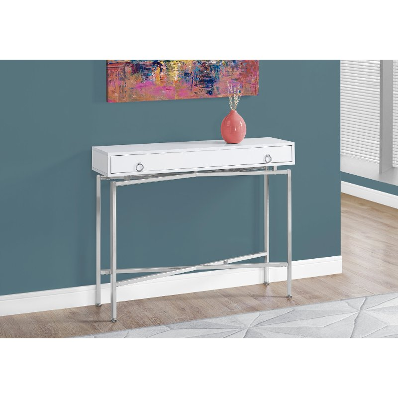 Stupendous White 42 Inch Console Table Products In 2019 White Machost Co Dining Chair Design Ideas Machostcouk