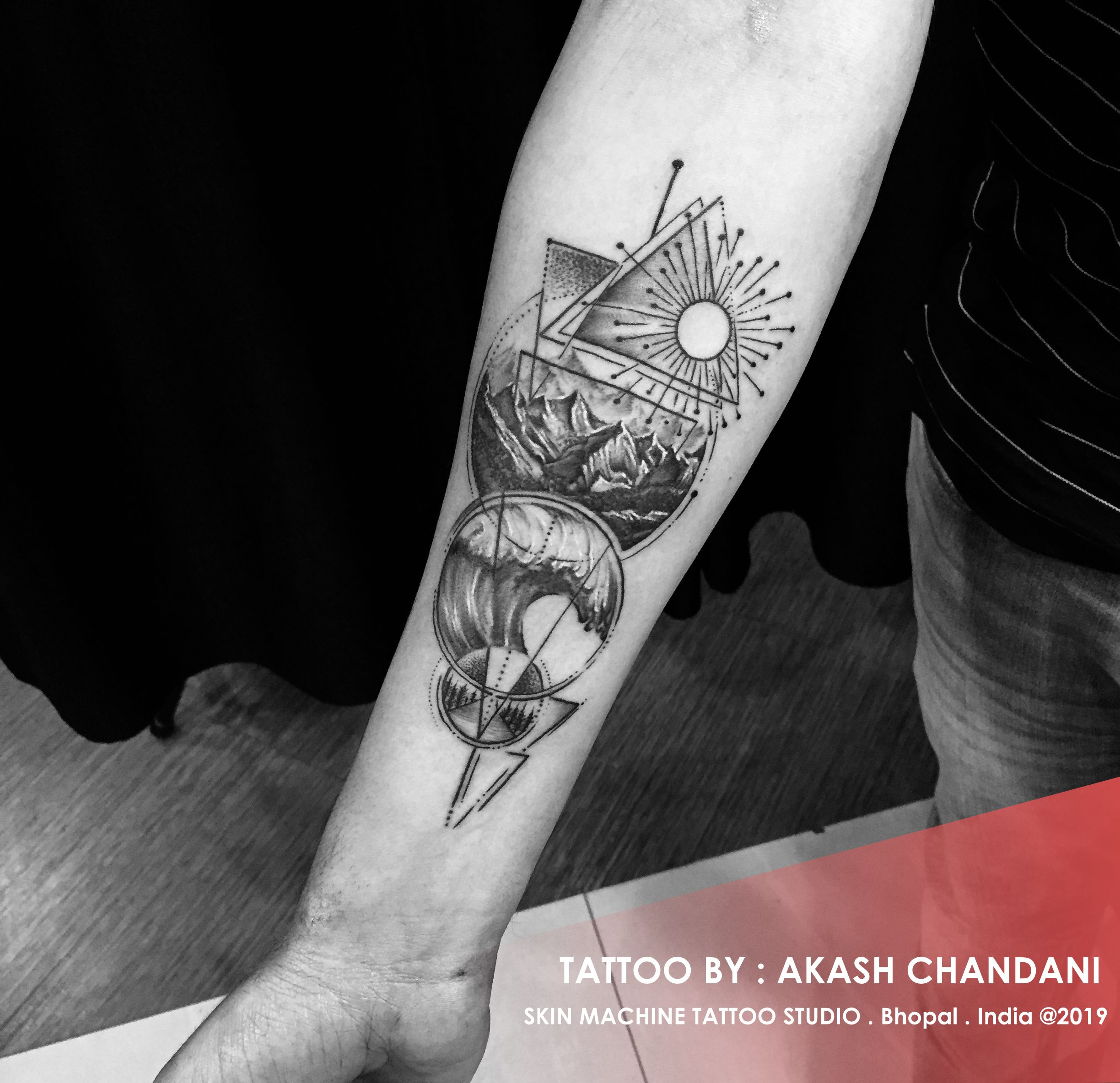 fad6a38df6395 5 Elements of nature, tattoo designed by : Akash Chandani Skin Machine  Tattoo Studio Email for appointments : skinmachineteam@gmail.com ...