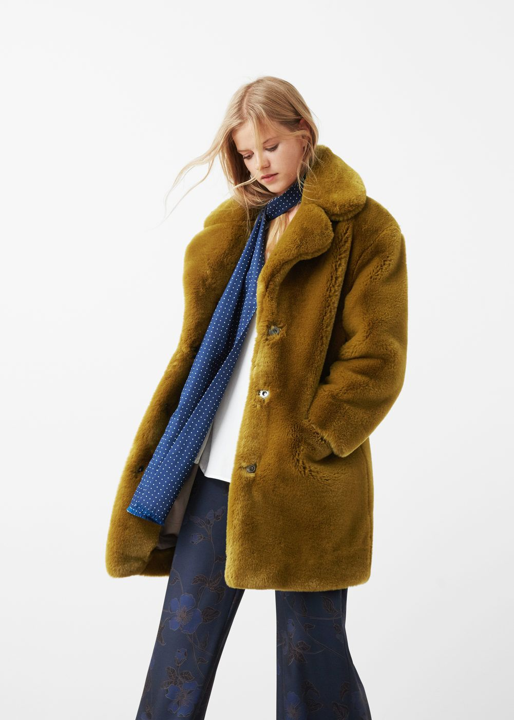 Faux fur coat - Women   Shopping Cart   Pinterest   Fur, Faux fur ... 29808f09d438
