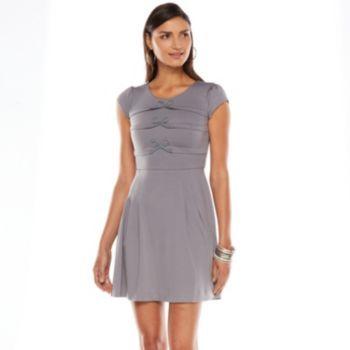 LC Lauren Conrad Bow Fit & Flare Dress - Women's SO IN LOVE