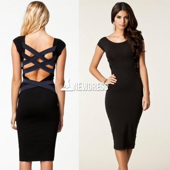 Sexy Women Bodycon Bandage Pencil Dress Backless Evening Party Dress