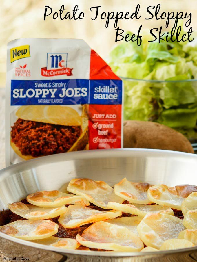 Photo of Potato Topped Sloppy Beef Skillet for #SundaySupper with #Mc…