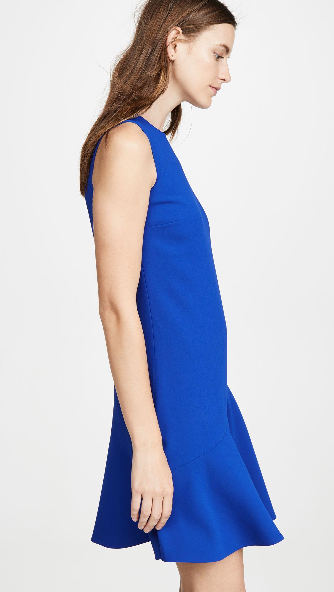 Victoria Victoria Beckham Flounce Hem Shift Dress Shopbop Womens Fashion Boho Victoria Beckham Dress Shift Dress [ 2000 x 1128 Pixel ]