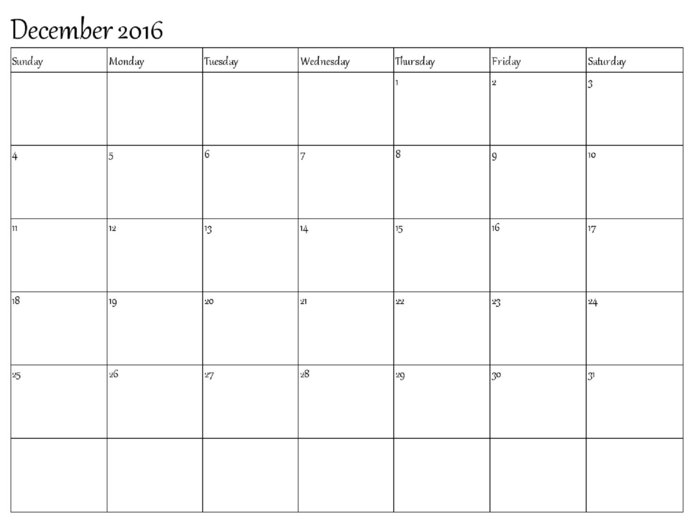 December Calendar For December S Agendas