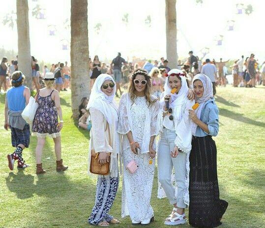 Muslimahs at coachella