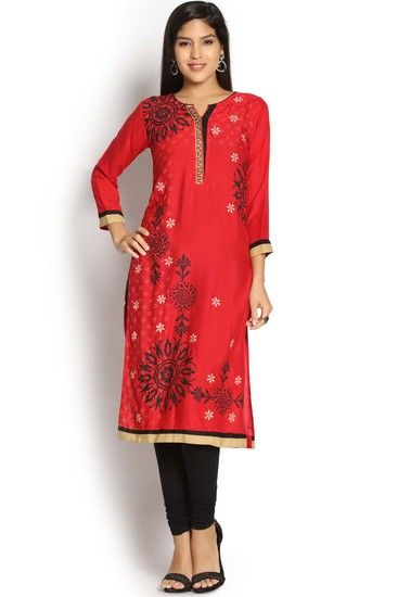 46e32ae56f Soch Red Printed Kurti - Soch Kurtas & kurtis for women | buy women kurtas  and kurtis online in indium