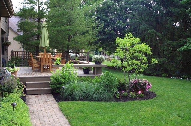 Landscaping around your deck deck benchesdeck designwood for Garden decking near me