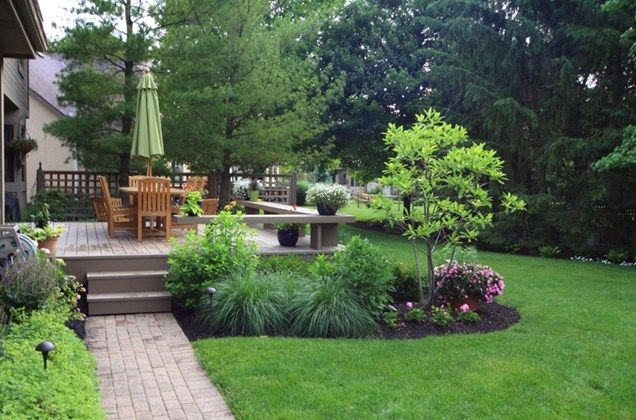 Landscaping around your deck deck benchesdeck designwood for Landscaping ideas around deck