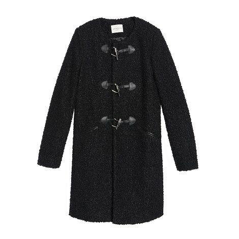 Manteau esprit duffle coat en fourrure fantaisie - Sandro