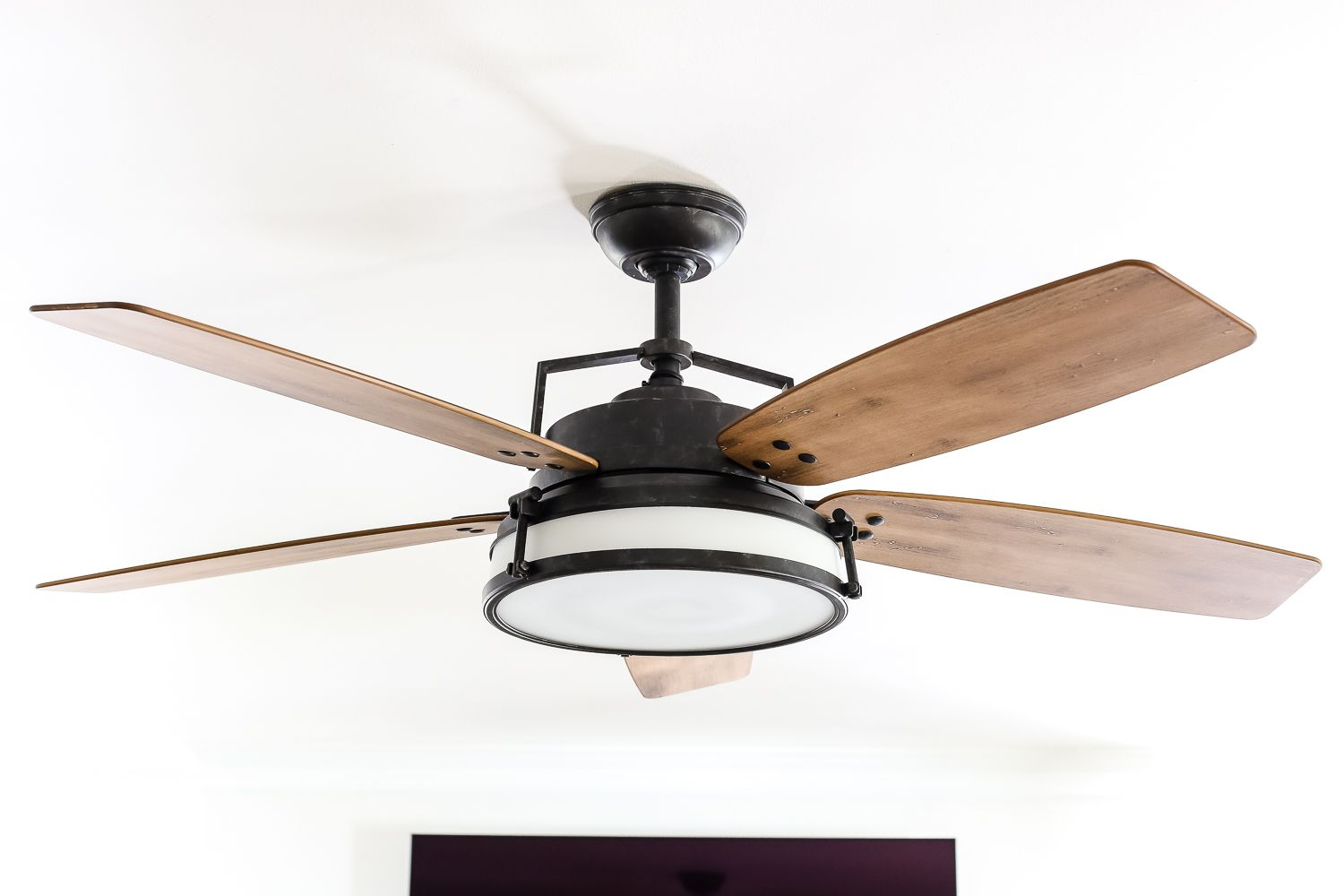 Living room update ceiling fan swap home is where the - Living room ceiling fan ...