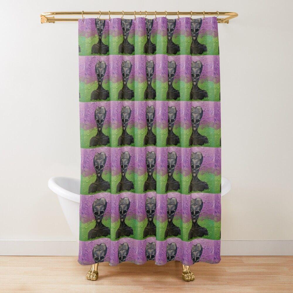 Portrait Of An Alien Shower Curtain By Jestersprayer In 2020