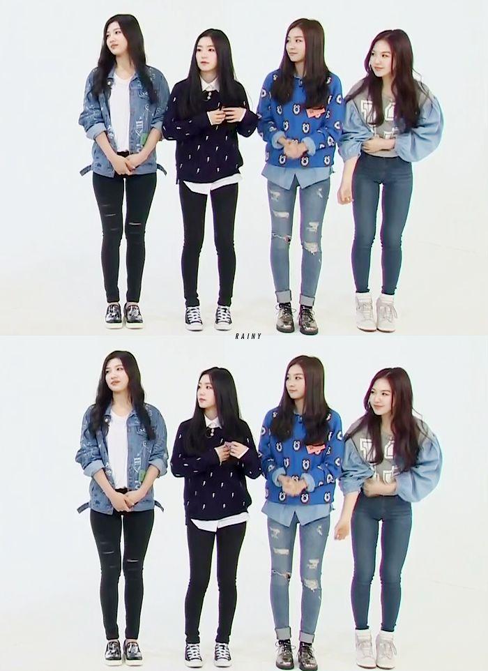 Red Velvet Joy Irene Seulgi Wendy Kpop Fashion 141015 Weekly Idol 2014 Recorded On 140923 Red Velvet Joy Velvet Fashion Velvet Clothes