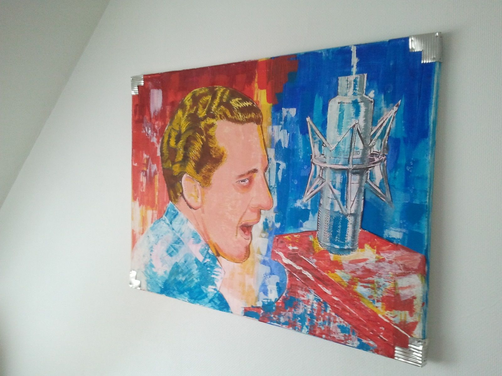 Jerry Lee Lewis King Of Rock N Roll Pop Art Gemälde Pop