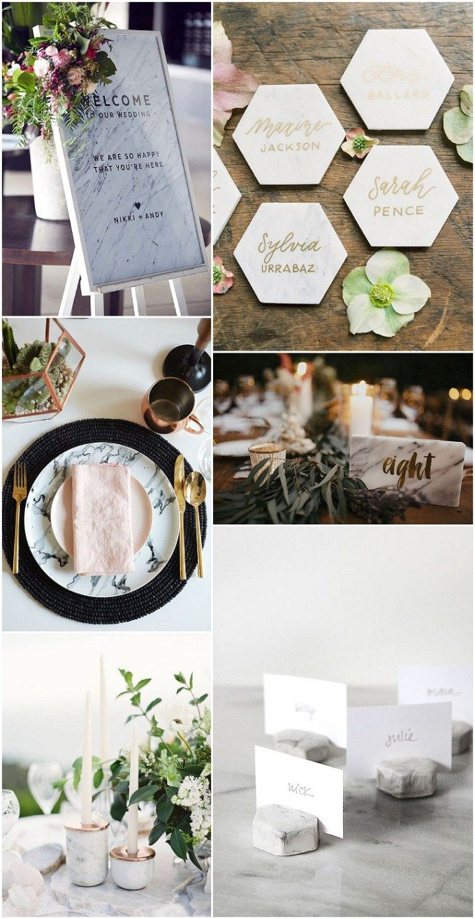 Ideas and Inspiration For Your Marble Themed Wedding | Wedding ...