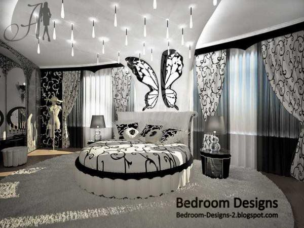 black and white master bedroom black and white master bedroom design idea whit round - Black And White Master Bedroom Decorating Ideas