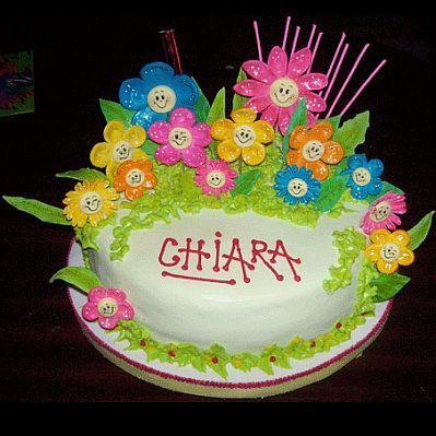 tortas con flores para fiestas infantiles parte
