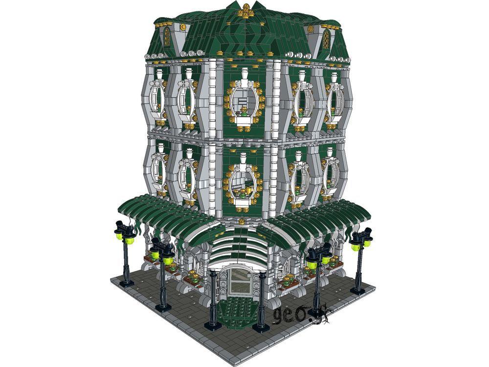 Lego Custom Modular Hotel Corner - INSTRUCTIONS ONLY -10182 | Legos ...