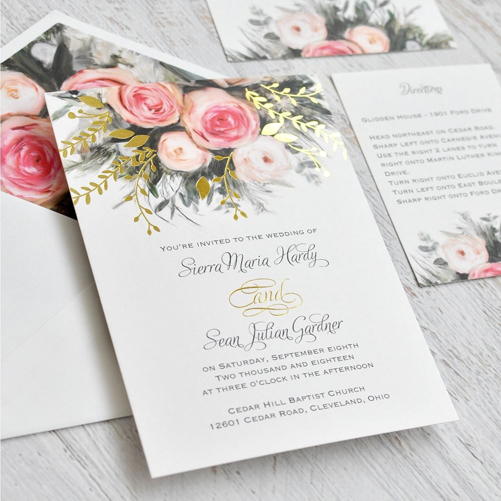 Ethereal Garden Foil Invitation With