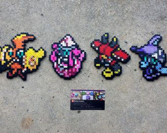 Sun And Moon Legendaries Pokemon Perler Bead Sprites Pokemon Perler Beads Bead Sprite Perler Bead Art
