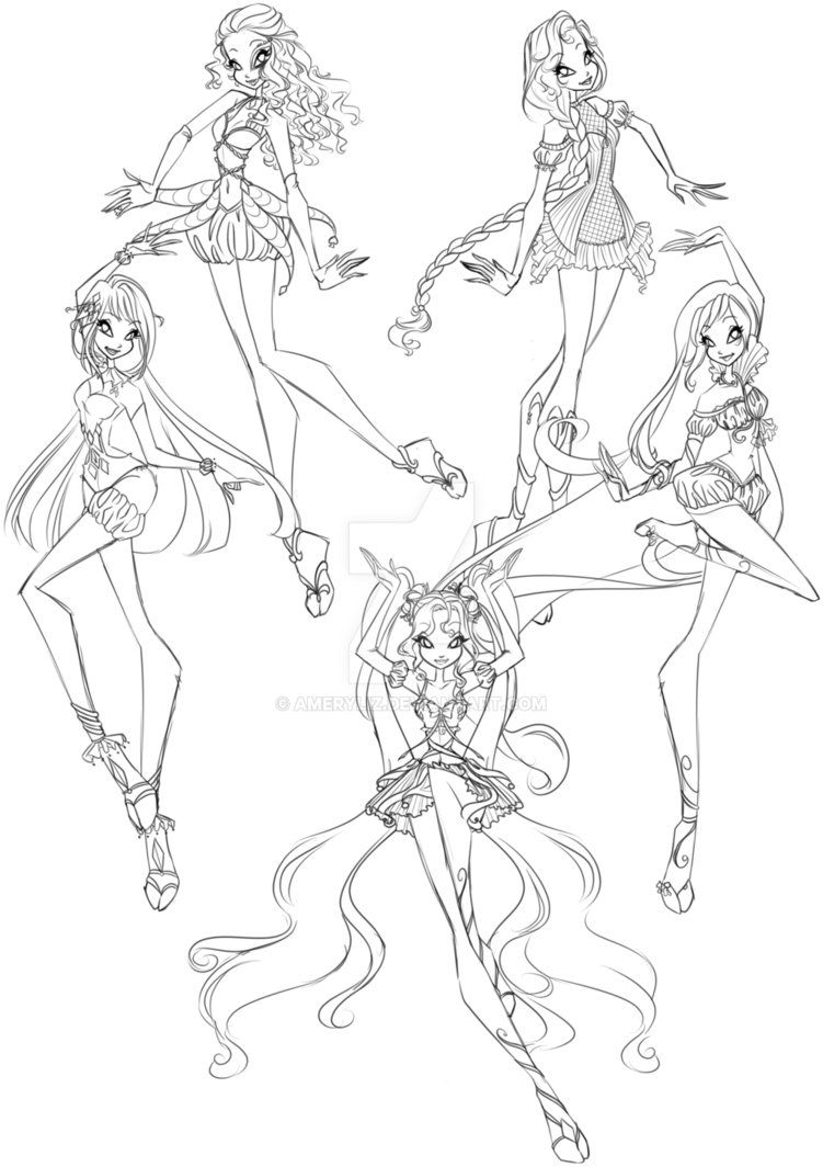 Joker Fest For Preciouswishes By Gardenofdaisy Cartoon Coloring Pages Winx Club Fairy Sketch