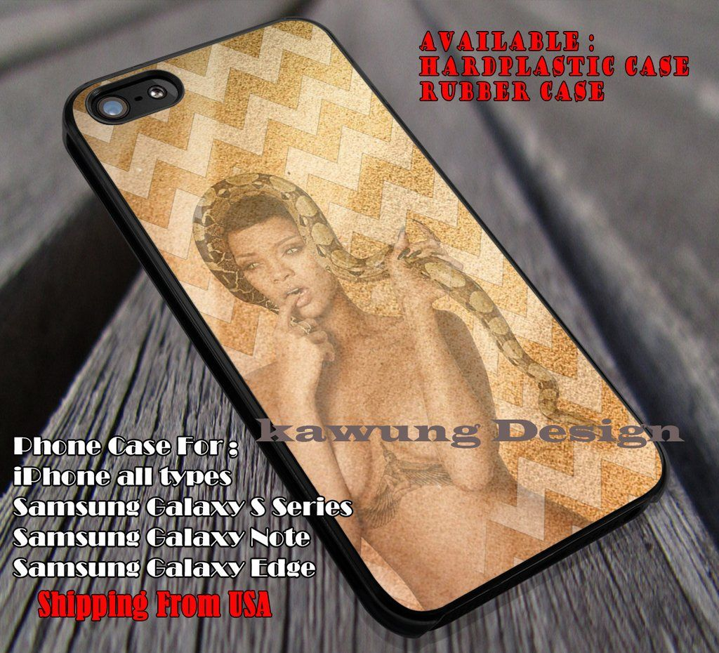 Rihanna on Sand With Snake iPhone 6s 6 6s  6plus Cases Samsung Galaxy s5 s6 Edge  NOTE 5 4 3 #music #rhn ii