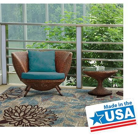 Mohawk Home Bella Garden Indoor/Outdoor Nylon Rug, Multi-Colored