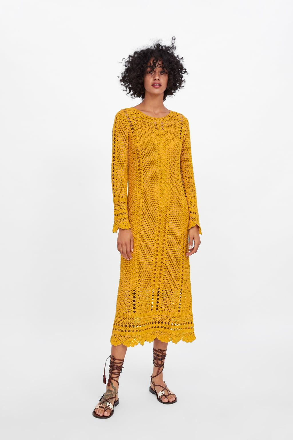 762f324c Scalloped crocheted dress | Jewel Tones | Yellow Citrine in 2019 ...