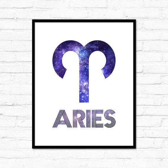 Aries Zodiac Star Sign Horoscope Symbol Galaxy By Lochnessstudio
