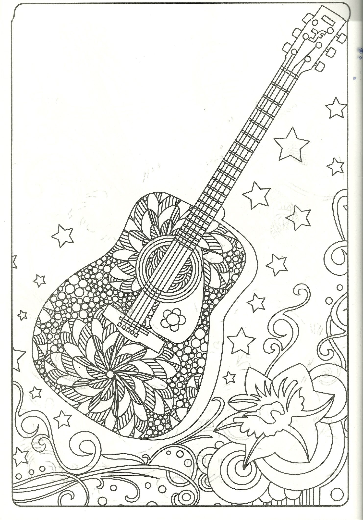 guitar coloring page my coloring