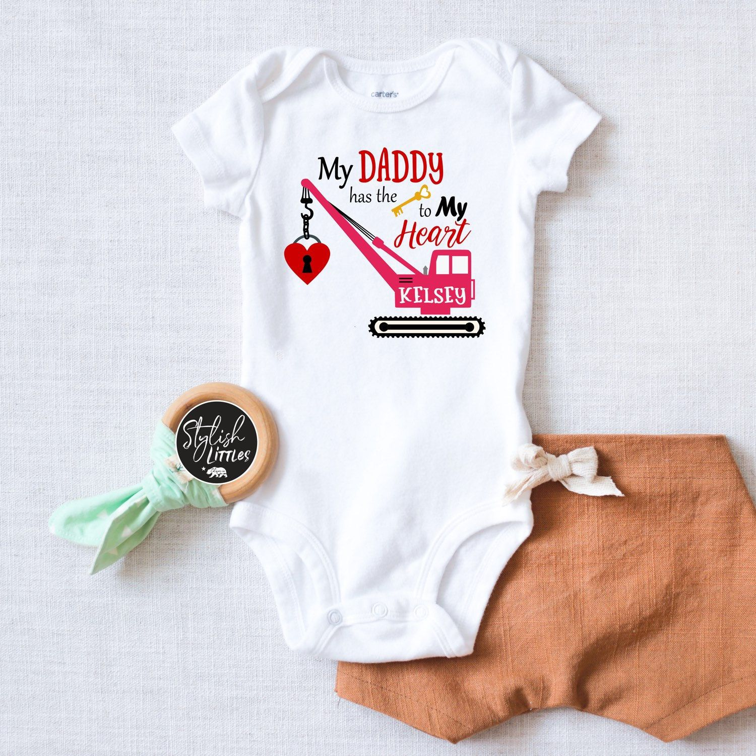 Personalised Name Surname Babygrow Baby Grow Gift Customisable Family Clan Smith