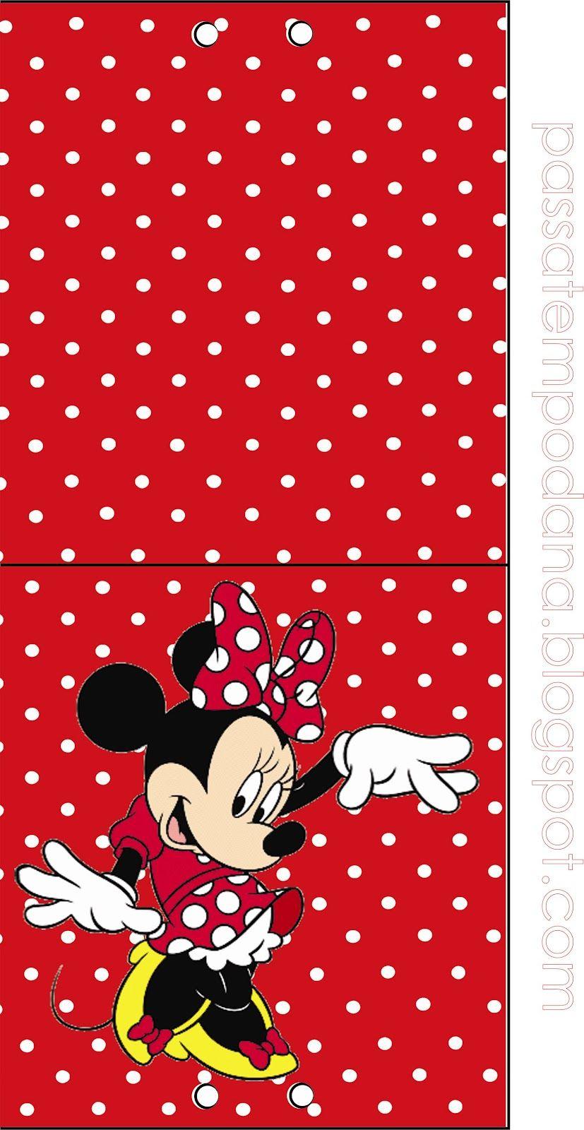 Kit - Minnie (Vermelho e Branco)